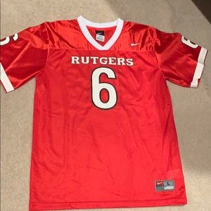 Tops - Rutgers women large red jersey